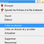 Menu contextuel fichier local